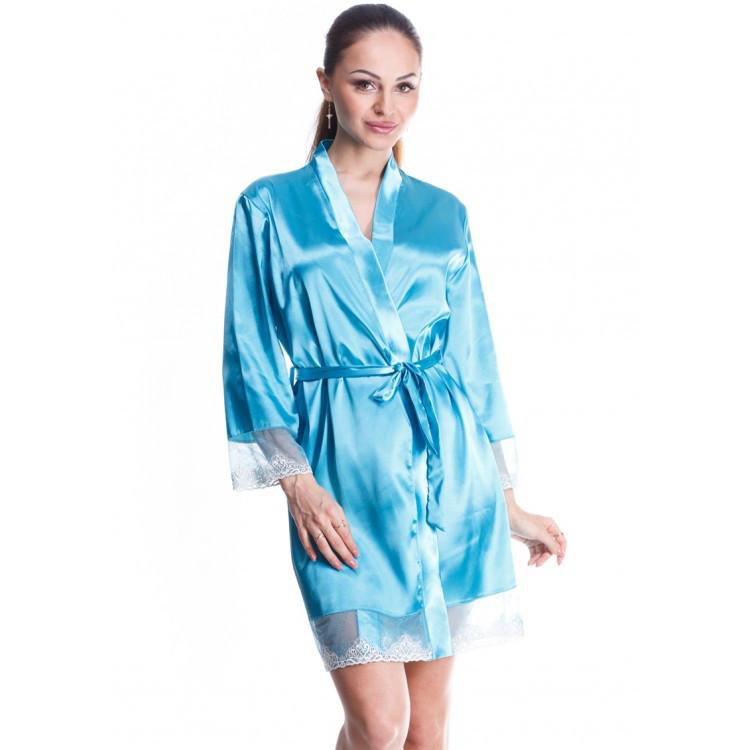Красивый атласный халат Серенада (Serenade) 881
