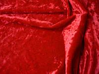 Cтрейч-бархат крэш красный