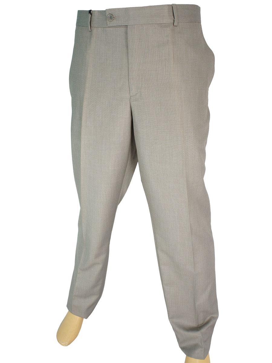 Турецькі чоловічі брюки Monzeratti 0679 beige cell в бежевому кольорі