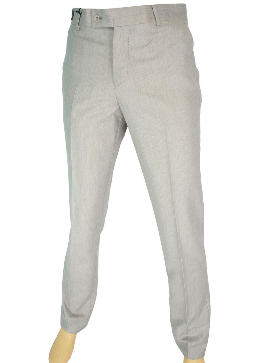 Літні чоловічі класичні брюки Monzeratti 0873 beige stript бежевого кольору