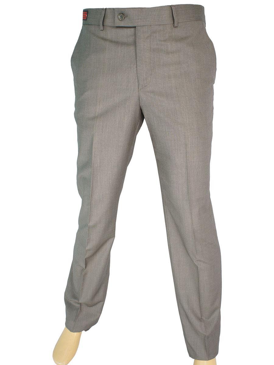 Коричневые мужские классические брюки Monzeratti 0679 kahve struct