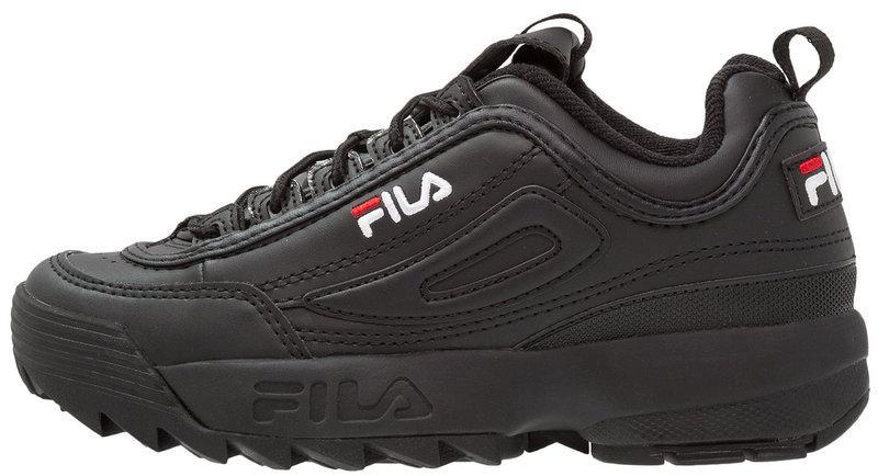 Женские кроссовки Fila Disruptor II (Фила Дисраптор 2) черные