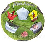Безкаркасне крісло м'яч мішок Дніпро з ім'ям пуф дитячий, ціни в описі, фото 2
