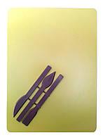 Досточка для лепки + стеки Да, Украина, Доска для пластилина, Желтый
