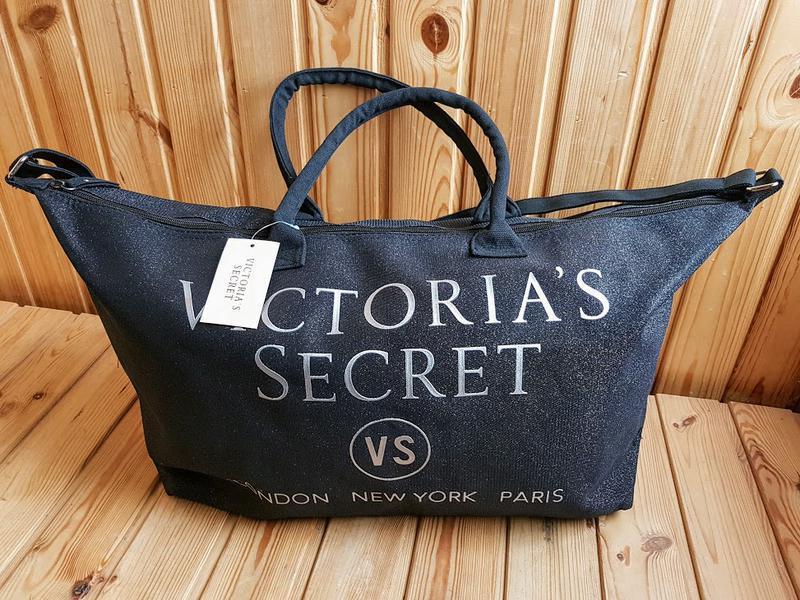 85cfae36e9fd3 Сумка большая с блестками черная Victoria's Secret 1720- купить по ...