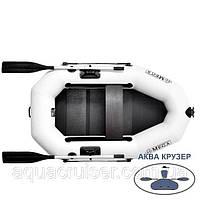 Лодка надувная пвх OMega Ω 190 LS (PS), Полный комплект - поворотные уключины, слань, передвижные сиденья