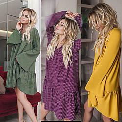 Платье распашонка  в модных цветах