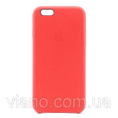 Кожаный чехол iPhone 6/6S (Красный) Apple Leather case