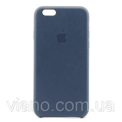 Кожаный чехол iPhone 6/6S (Тёмно-синий) Apple Leather case