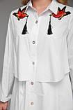 Платье-рубашка  женская Троя белого цвета, фото 4