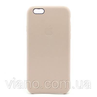 Кожаный чехол iPhone 6/6S (Бежевый) Apple Leather case