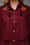Женское платье-рубашка   Троя бордо, фото 4