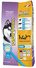 Полувлажный корм для щенков и собак мелких пород Natyka Gold Puppy & Small Dogs 4,5 кг