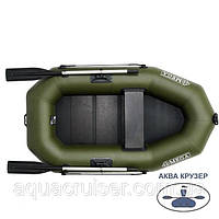 Човен надувний одномісна гребний пвх OMega Ω 210 LS з рейковою сланью для риболовлі, полювання і відпочинку