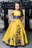 """Атласное бальное платье с вышивкой  """"Стефания-2"""""""