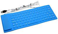 Силиконовая клавиатура USB 105 C Оriginal size Силиконовая клавиатура Резиновые клавиатуры Гибкая клавиатура, фото 1
