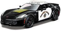 Автомодель Maisto (1:24) Chevrolet Corvette Z06 Полиция Чёрный (32516 black)