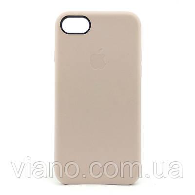 Кожаный чехол iPhone 7/8 (Бежевый) Apple leather case