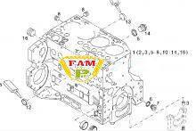 Блок двигателя 04506856 DEUTZ TCD 2012 L6 2V