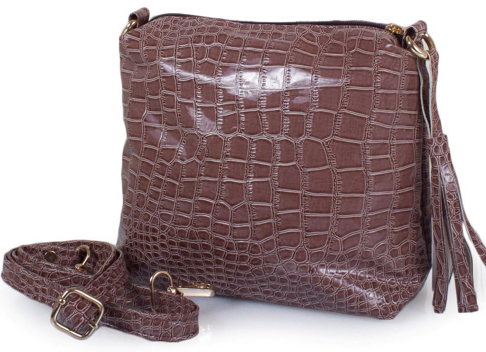 Сумка-клатч из эко кожи ETERNO ETZG08-17-12, женская, коричневый