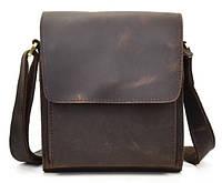 Кожаная мужская сумка на плечо T.B. 7055B-1 Коричневый