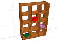 Шкаф для горшков в детский сад ( 904*300*1170 мм)