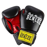 Перчатки кожаные для бокса и единоборств BENLEE FIGHTER черного цвета / 10 унций / 12 унций / 14 унций