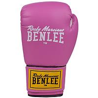 Перчатки кожаные для бокса и единоборств BENLEE FIGHTER розового цвета / 10 унций / 12 унций / 14 унций 10 унций