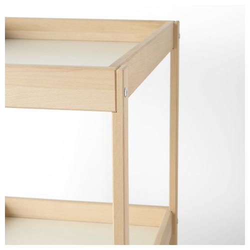 СНИГЛАР Пеленальный стол, бук, белый, 72x53 см 20045205 IKEA, ИКЕА, SNIGLAR