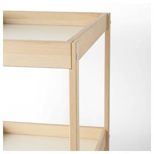 СНИГЛАР Пеленальный стол, бук, белый, 72x53 см 20045205 IKEA, ИКЕА, SNIGLAR, фото 2