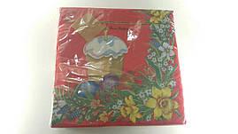 Пасхальная бумажная салфетка Luxy  Пасхальный узор 073
