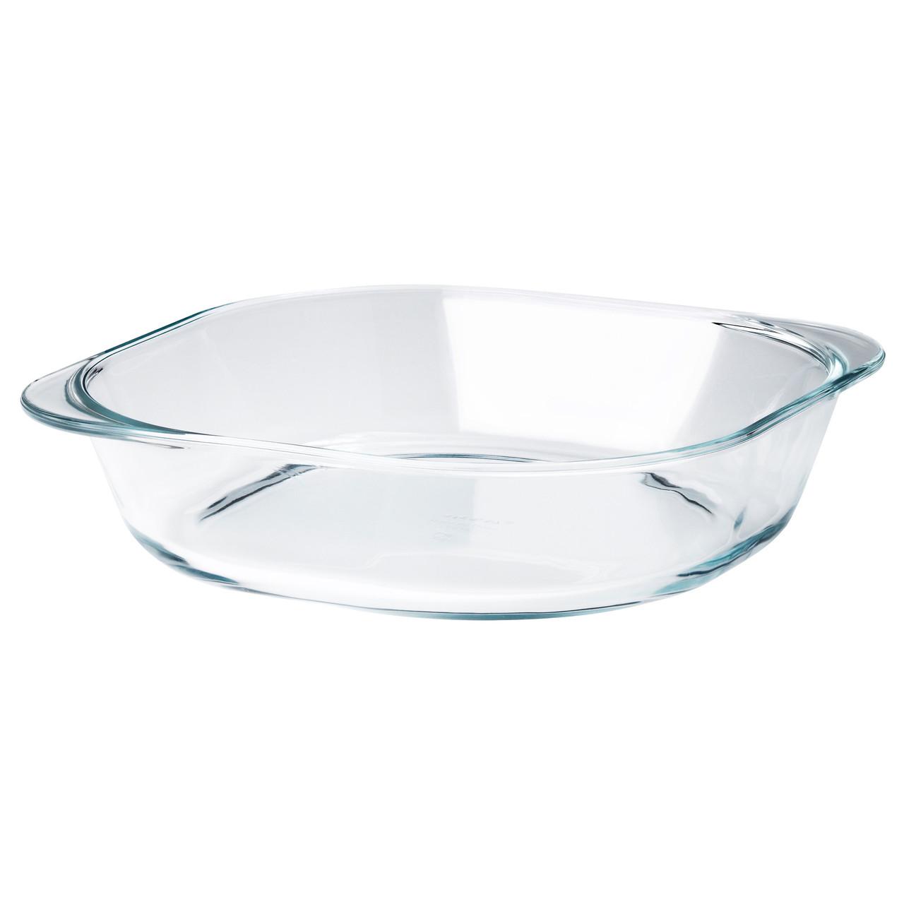 ФОЛЬСАМ Форма для духовки, прозрачное стекло, 24.5x24.5 см 50311269 IK