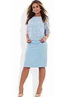 Костюм двойка из блузы и юбки размеры от XL 4126