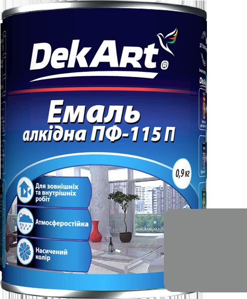Емаль DekArt ПФ-115П світло-сіра (0.9 кг)