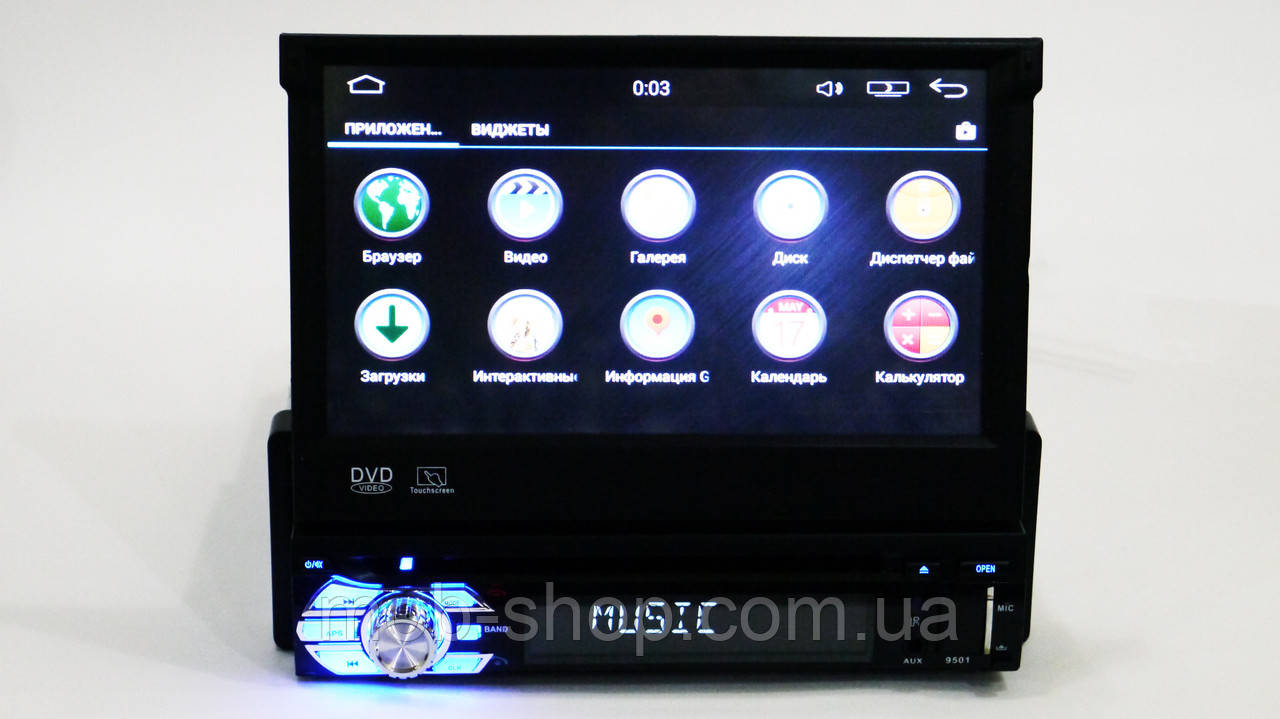 Автомагнитола пионер Pioneer 9501 DVD 1din GPS+WiFi+Android 16 Гб