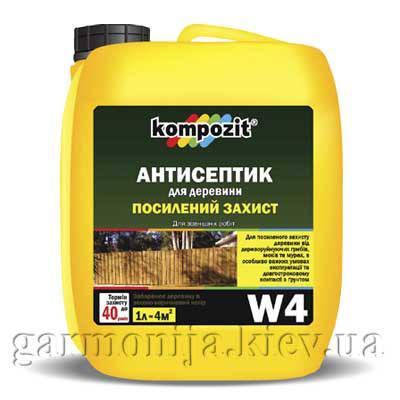 Антисептик для усиленной защиты W4 Kompozit, фото 2