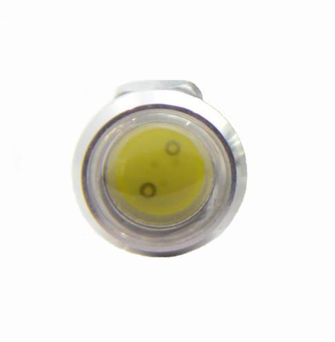Светодиодный линзованный мини светильник синий 12V 3W с гайкой хром Код.58925