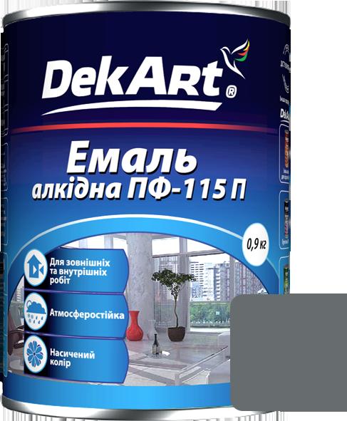 Емаль DekArt ПФ-115П сіра (0.9 кг)