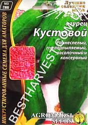 Семена огурца «Кустовой» 4 г, инкрустированные