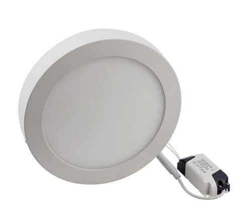 Светодиодный cветильник накладной 12W 4000K круглый белый (потолочный) Код.57619