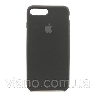 Силиконовый чехол iPhone 7 Plus/8 Plus (Чёрный). Apple silicone case