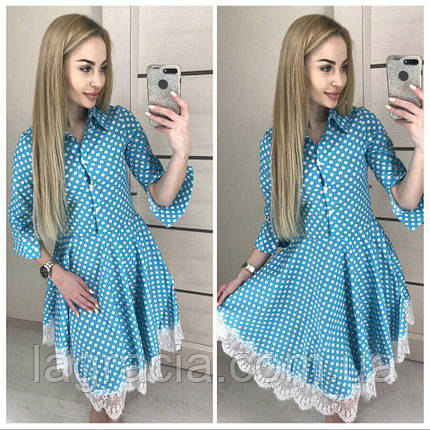 Модное летнее платье клеш из хлопка, фото 2