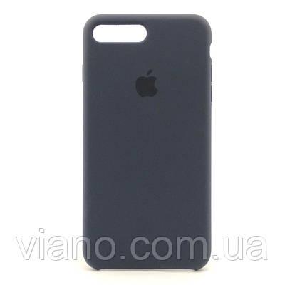 Силиконовый чехол iPhone 7 Plus/8 Plus (Тёмно-Синий) Apple silicone case