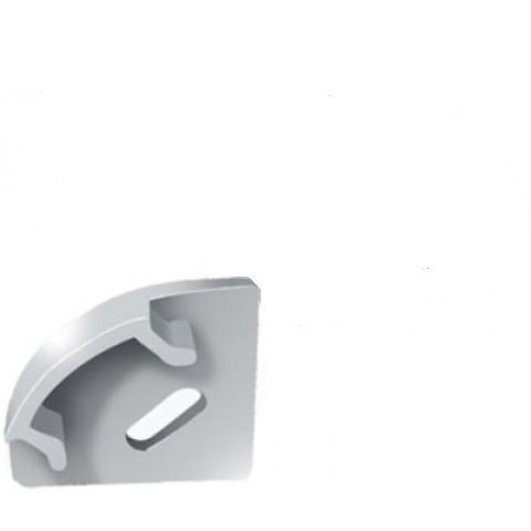 Торцевая заглушка ЗПУО 17*17 угловая с отверстием Код.56665