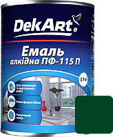 Емаль DekArt ПФ-115П темно-зелена (0.9 кг)