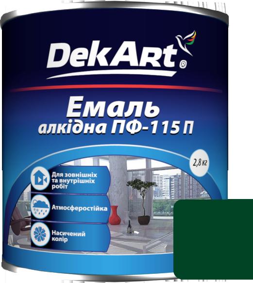 Емаль DekArt ПФ-115П темно-зелена (2.8 кг)