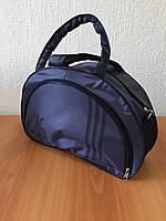 Спортивная сумка Adidas модель MB. (темно-синий+черный).Размер 44х29