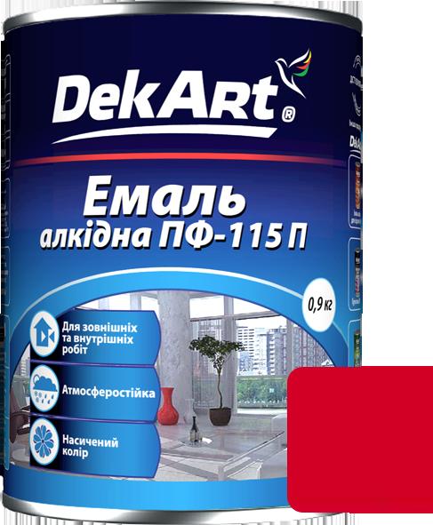 Емаль DekArt ПФ-115П червона (0.9 кг)