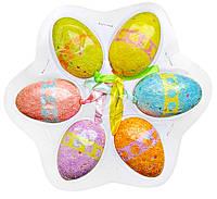 Яйца пасхальные декоративные (6 шт, 6 см)