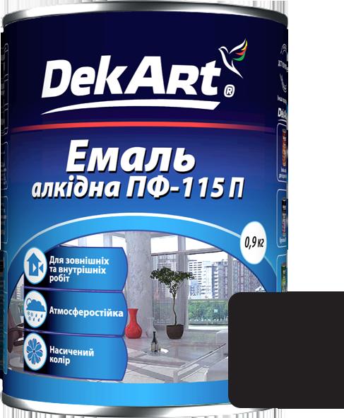 Емаль DekArt ПФ-115П чорна (0.9 кг)